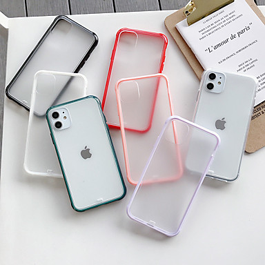 cheap iPhone Cases-Case For Apple iPhone 11 / iPhone 11 Pro / iPhone 11 Pro Max Frosted / Transparent Back Cover Solid Colored Acrylic