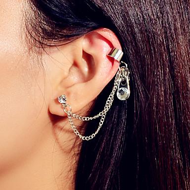 levne Dámské šperky-Dámské Náušnice Geometrické Vertikálně umělecké Asijský styl Punk Elegantní francouzština Umělé diamanty Náušnice Šperky Stříbrná Pro Párty Dar Denní Klub Bar 1ks
