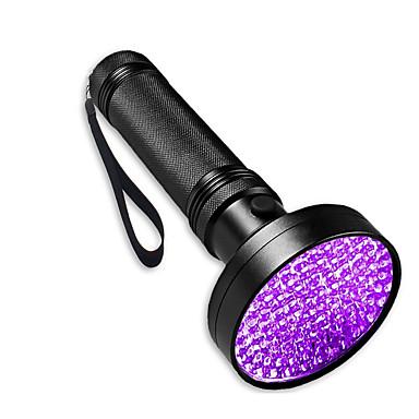 preiswerte Taschenlampen-Taschenlampen mit Schwarzlicht LED 100 Sender Verstellbar Windundurchlässig Einfach zu tragen Langlebig Camping / Wandern / Erkundungen Für den täglichen Einsatz Angeln Violett Lichtfarbe Schwarz