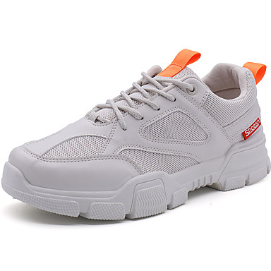 Men's Comfort Shoes Mesh Spring & Summer / Fall & Winter Casual Athletic Shoes Breathable Black / White / Beige