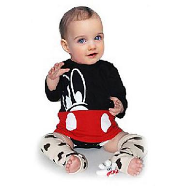 povoljno Odjeća za bebe-Dijete Djevojčice Aktivan / Osnovni Print Print Dugih rukava bodysuit Crn