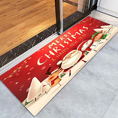Romantic Red Rose Floor Memory Foam Carpet Shower Rug Non-slip Door Bath Mat