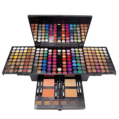 voordelige Make-up & Verzorging-180 kleuren Oogschaduw Oogschaduw Kit Contour make-up kit Mat Glimmend Blozen markeerstift bronzer Alles-in-1 Professioneel Modieus waterdicht Langdurig Dagelijkse make-up schoonheidsmiddel Geschenk