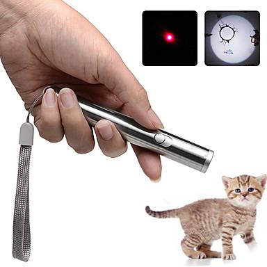 رخيصةأون أضواء الخارج-Brelong 2 في 1 ليزر مضيا المحمولة بقيادة مصباح يدوي صغير ضوء الأشعة تحت الحمراء الحيوانات الأليفة القط لعبة ليزر القلم الشعلة الصغيرة 1 جهاز كمبيوتر