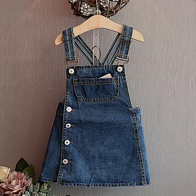 preiswerte Hosen & Leggings für Mädchen-Kinder Baby Mädchen Aktiv Grundlegend Solide Anzug & Overall Blau