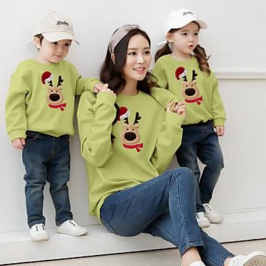 preiswerte Weihnachten-Familienblick Tier Weihnachten Kleidungs Set Grün