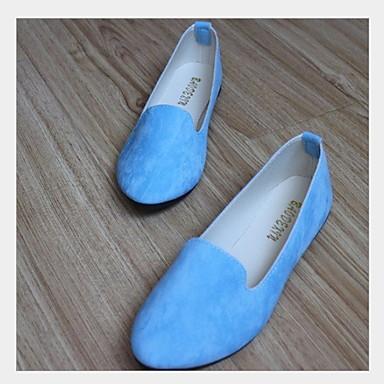 levne Dámské boty s plochou podrážkou-Dámské Bez podpatku Rovná podrážka Oblá špička Umělá kůže Podzim zima Černá / Bílá / Námořnická modř