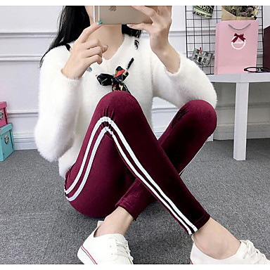 Women's Jogger Pants Joggers Running Pants Streetwear Side-Stripe Beam Foot Drawstring Velvet Sports Winter Pants / Trousers Bottoms Running Fitness Soft Fashion Pink / Stretchy