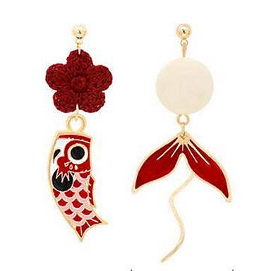 levne Dámské šperky-Dámské Mix náušnic Neshoda Ryby stylové Náušnice Šperky Červená Pro Denní 1 Pair