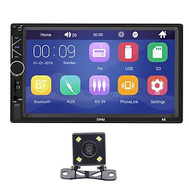 levne Auto Elektronika-swm a6 + 4led camera 7 inch 2 din windows ce car mp5 player car multimediální přehrávač dotykový displej / vestavěný bluetooth / sd / usb podpora rca / hdmi / vga mpeg / mpg / wmv mp3 / wma pro