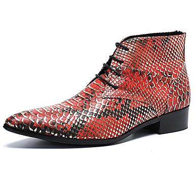 Muškarci Cipele za noviteti Mekana koža Zima / Jesen zima Vintage / Uglađeni Čizme Ugrijati Čizme gležnjače / do gležnja Lila-roza / Plava / Zabava i večer