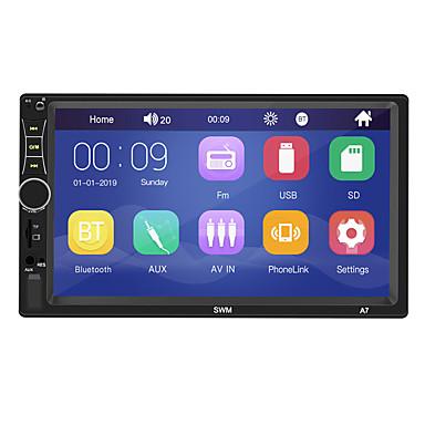 billige Automotiv-SWM A7 7 tommers 2 Din Windows CE Bil MP5-spiller / Bil MP4-spiller / Bil MP3-spiller Pekeskjerm / Innebygget Bluetooth / SD / USB-support til Universell RCA / HDMI / VGA Brukerstøtte MPEG / MPG / WMV