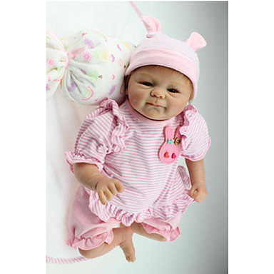 cheap Reborn Doll-NPKCOLLECTION 18 inch NPK DOLL Reborn Doll Girl Doll Baby Girl Newborn Gift Hand Made Child Safe Non Toxic Cloth 3/4 Silicone Limbs and Cotton Filled Body with Clothes and Accessories for Girls