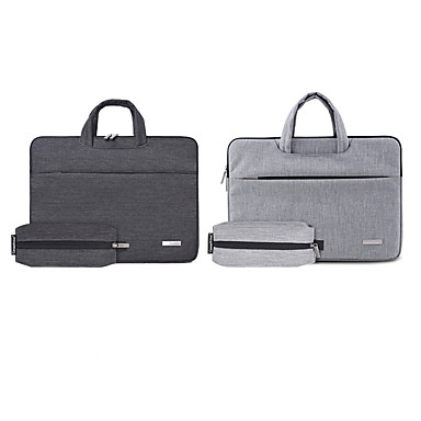 cheap Computer Peripherals-13.3 Inch Laptop / 14 Inch Laptop / 15.6 Inch Laptop Sleeve / Briefcase Handbags Polyester Plain / Fashion for Business Office for Colleages & Schools for Travel Water Proof Shock Proof