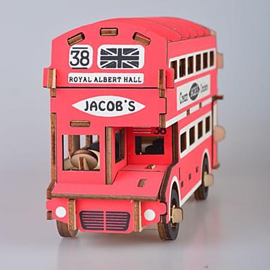 levne 3D puzzle-3D puzzle Dřevěné puzzle Modele Móda Dům Autobus Nový design Udělej si sám 1 pcs Klasické Módní Dětské Dospělé Chlapecké Dívčí Hračky Dárek / Dřevěný model