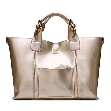 preiswerte Taschensets-Damen Reißverschluss Rindsleder Bag Set Volltonfarbe 2 Stück Geldbörse Set Schwarz / Wein / Gold