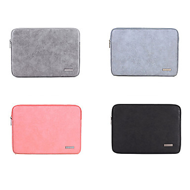 cheap Computer Peripherals-13.3 Inch Laptop / 14 Inch Laptop / 15.6 Inch Laptop Sleeve PU Leather Plain / Fashion for Business Office for Colleages & Schools for Travel Water Proof Shock Proof