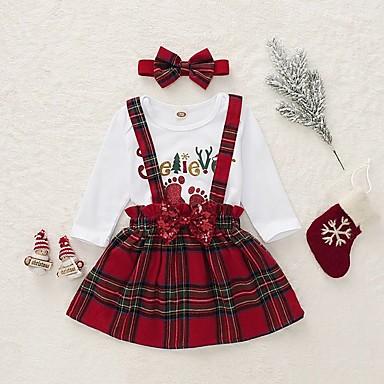 preiswerte Weihnachten-Kinder Mädchen Verziert Weihnachten Kleid Weiß