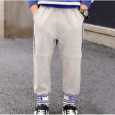 preiswerte Hosen für Jungen-Kinder Jungen Solide Hose Schwarz