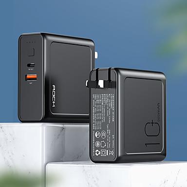 rock 10000 mah az akkumulátor töltőkészülékének külső akkumulátorához 5 v 3 a-hoz az akkumulátor töltőhöz qc 3.0 led