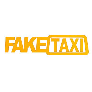 2Pcs FAKE TAXI Vinyl Car Stickers FakeTaxi Self Adhesive Funny Car Decals Emblem