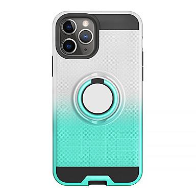 povoljno iPhone maske-Θήκη Za Apple iPhone 11 / iPhone 11 Pro / iPhone 11 Pro Max Prsten držač / Translucent Stražnja maska Jednobojni TPU