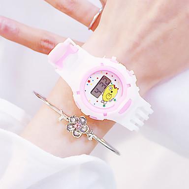 levne Pánské-Dámské Digitální hodinky Třpyt Na běžné nošení Bílá Silikon čínština Digitální Fialová Světlá růžová Oranžová kreativita Svítící Nový design 30 m 2ks Analogové Dva roky Životnost baterie
