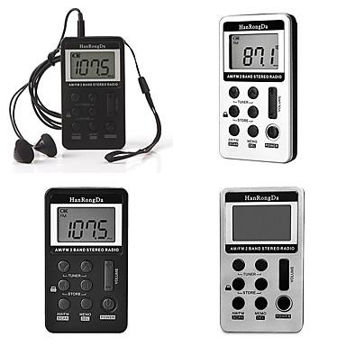 cheap Radio-Two band FM AM rechargeable portable digital display mini radio