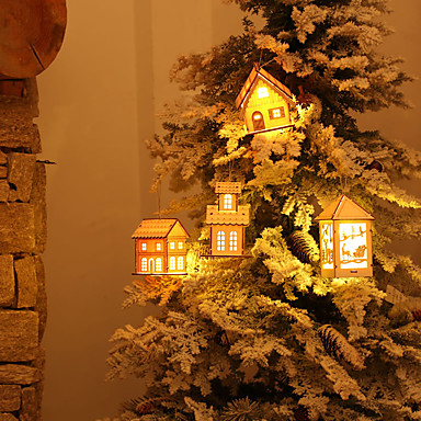 preiswerte Dekoration-Urlaubsdekoration Weihnachtsdeko Weihnachtsbeleuchtung / Weihnachten / Weihnachtsschmuck LED-Lampe / Dekorativ / Neuartige Weiß / Himmelblau / Silber 1pc