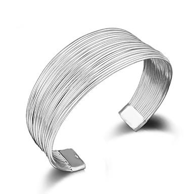 povoljno Narukvice-veleprodaja personalizirana modna ženska zabava darova srebrna više linija 925 srebrna podesiva narukvica