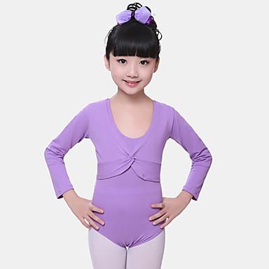 preiswerte Tanzkleider & Tanzschuhe-Ballett Oberteile Mädchen Training / Leistung Elasthan Horizontal gerüscht Langarm Normal Top