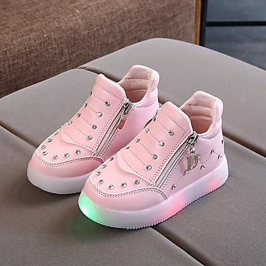 cheap New Arrivals-Boys' / Girls' Sneakers LED / Comfort / Halloween Synthetics Little Kids(4-7ys) Luminous White / Red / Pink Winter