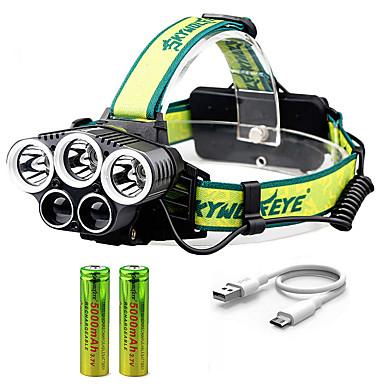 preiswerte Taschenlampen-Stirnlampen LED 5 Sender Verstellbar Windundurchlässig Einfach zu tragen Langlebig Camping / Wandern / Erkundungen Für den täglichen Einsatz Radsport Grün Rot