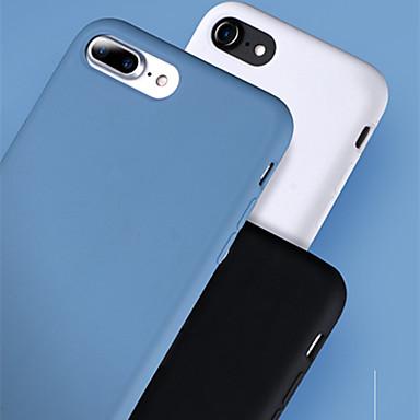 Case Kompatibilitás Apple iPhone 8 Plus / iPhone 8 / iPhone 7 Plus Ütésálló / Ultra-vékeny / Jeges Fekete tok Egyszínű TPU / Műanyag / Fém