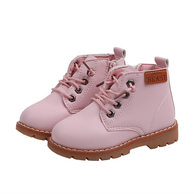 cheap For ages 9 mos.-4 yrs.-Boys' / Girls' Bootie PU Boots Toddler(9m-4ys) / Little Kids(4-7ys) Black / Pink / Beige Fall / Winter