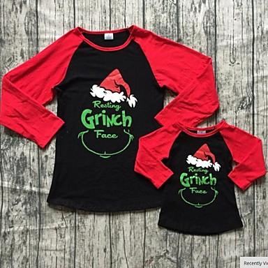 preiswerte Weihnachten-Mama und ich Tier Weihnachten Kleidungs Set Rote