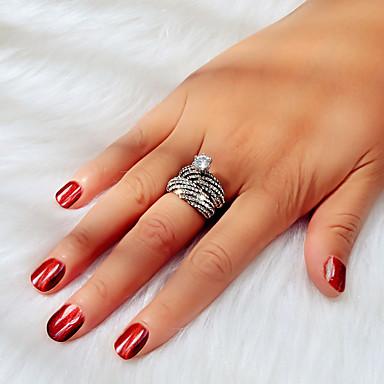 levne Dámské šperky-Dámské Pro páry Prsten Zásnubní prsten 2pcs Stříbrná Umělé diamanty Slitina umělecké Klasické Základní Svatební Párty Šperky Klasika Koule Šťastný Sen Roztomilý Cool Půvab