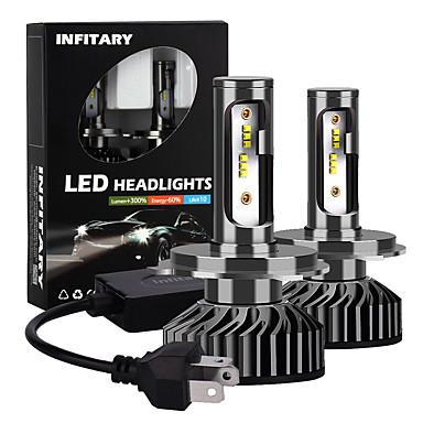 povoljno Auto prednja svjetla-infitar auto prednja svjetla h4 h13 9004 9007 auto prednja svjetla zes chip 10000lm 6500k 12v 72w vodootporna vanjska snaga auto svjetiljka 2pcs