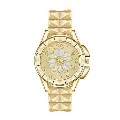 levne Dámské-Dámské Křemenný Květina Vintage Stříbro Zlatá Růžové zlato Nerez Křemenný Růžové zlato Zlatá Stříbrná Roztomilý Analogové