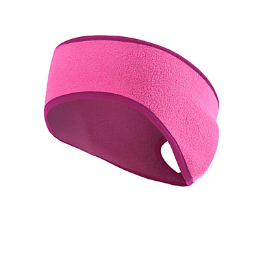 cheap Exercise, Fitness & Yoga-Ponytail Headband Ear Warmer Sweatband Men's Women's Headwear Solid Colored Thermal Warm Windproof Breathable for Fitness Running Jogging Autumn / Fall Spring Winter Black Red Fuchsia