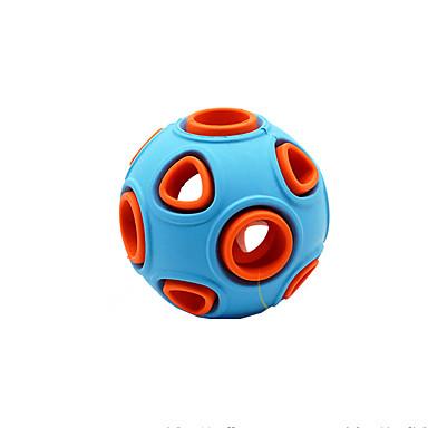 preiswerte Bekleidung & Accessoires für Katzen-Kugel Quietsch- Spielzeuge Hunde Haustiere Haustiere Spielzeuge 1pc Klingglöckchen Gummi Silikon Geschenk