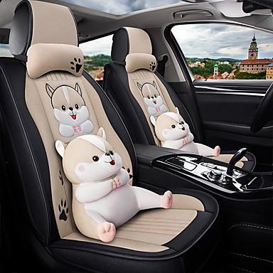 preiswerte Kopfstützen fürs Auto-Cartoon Auto Sitzkissen ganzjährig gm Sitzbezug Full Surround Auto Sitzkissenbezug kompatibel mit Airbag Sitzkissen 5 Sitze inklusive 2 Kopfstützen und 2 Lenden