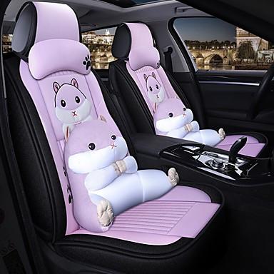 preiswerte Kopfstützen fürs Auto-Ganzjahres-Sitzkissenbezug für Cartoon-Autos. 5 Sitze, einschließlich 2 Kopfstützen und 2 Lendenwirbelstützen
