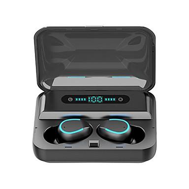 hesapli Kulaklıklar ve Kulaklıklar-Litbest f9-5 tws gerçek kablosuz kulakiçi 2000 mah güç bankası bluetooth 5.0 stereo spor spor kulaklıklar otomatik soyma ses yardımcısı dokunmatik kontrol led ekran telefon tutucu kılıf