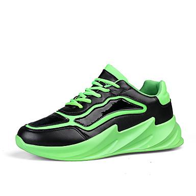 Homens Sapatos Confortáveis Couro Ecológico Inverno Tênis Caminhada Preto / Amarelo / Verde