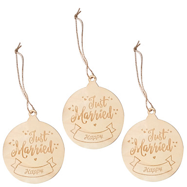 preiswerte Hochzeitsempfang-Verzierungen Hölzern 3 Stück Weihnachten