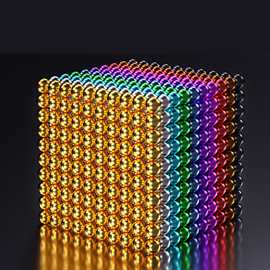 cheap Building Toys-216-1000 pcs 5mm Magnet Toy Magnetic Balls Building Blocks Super Strong Rare-Earth Magnets Neodymium Magnet Puzzle Cube Magnetic Adults' Boys' Girls' Toy Gift