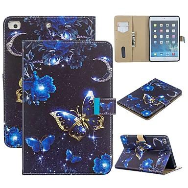 Capinha Para Apple iPad Mini 3/2/1 / iPad Mini 4 / iPad Mini 5 Carteira / Com Suporte / Flip Capa Proteção Completa Borboleta PU Leather