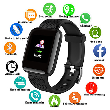 levne Pánské-Inteligentní hodinky Digitální Moderní styl Sportovní PU kůže 30 m Voděodolné Monitor pulsu Bluetooth Digitální Na běžné nošení Outdoor - Černá Fialová Zelená