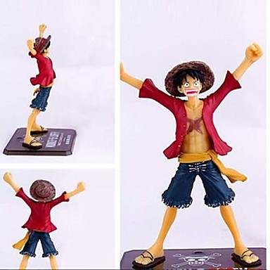 cheap Anime & Manga Dolls-Anime Action Figures Inspired by One Piece Monkey D. Luffy CM Model Toys Doll Toy Men's Boys' Girls' Classic Fun